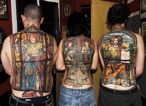 religious back tattoos for men christian images designs