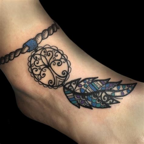 dream catcher tattoo on feet 21 dreamcatcher tattoo designs ideas design trends