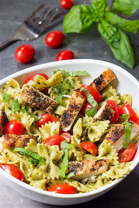 winter pasta salad pesto pasta with grilled chicken recipe summer summer