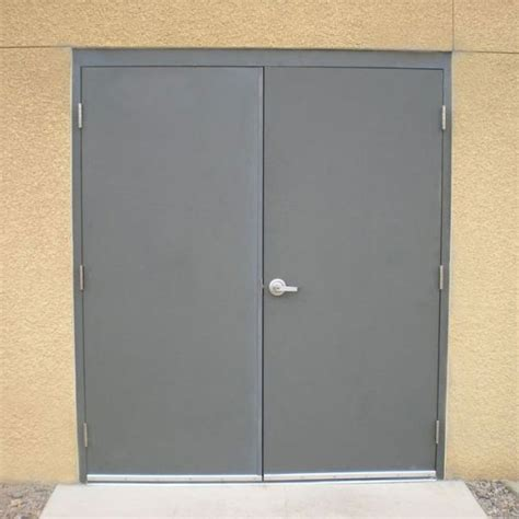 Commercial Steel Double Doors Hollow Metal Door Pair Commercial Metal Doors Exterior