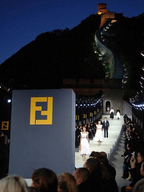 Fendi Catwalk Show In Great Wall Of China by Fur Flies At Fendi As Seoul Puts Ban On Catwalk Show