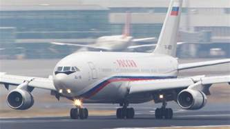 russian air one russian air force one ilyushin il 96 landing in 4k youtube