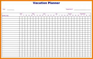 employee vacation calendar template doc 559726 vacation tracking template vacation accrual
