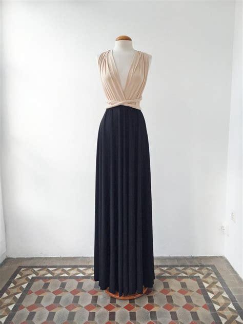 Dress 01300701 Two Colour black dress dress black dresses evening gown two color bridesmaid