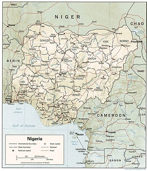 nigeria africa map nigeria maps perry casta 241 eda map collection ut library