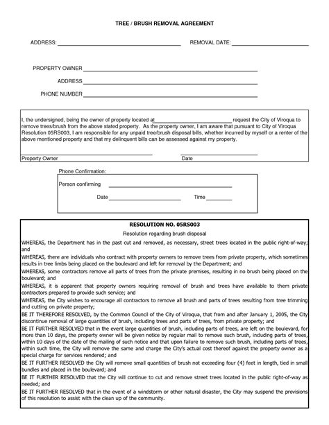 tree removal quote template 10 best images of tree removal forms tree removal