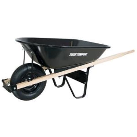 true temper 5 cu ft steel wheelbarrow c5 the home depot