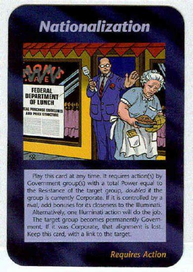 illuminati the of conspiracy cards illuminati nationalization new world order trading card