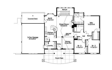 atrium ranch floor plans greensaver atrium berm home plan 007d 0206 house plans