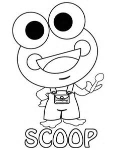 sweet frog coloring page collections