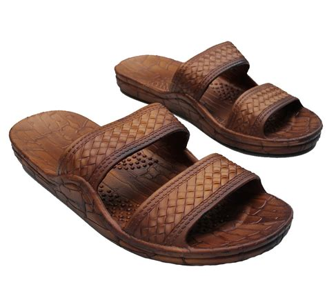 brown hawaiian sandals brown jesus style hawaii sandals unisex