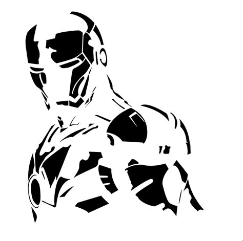 iron man stencil profile pinterest iron man