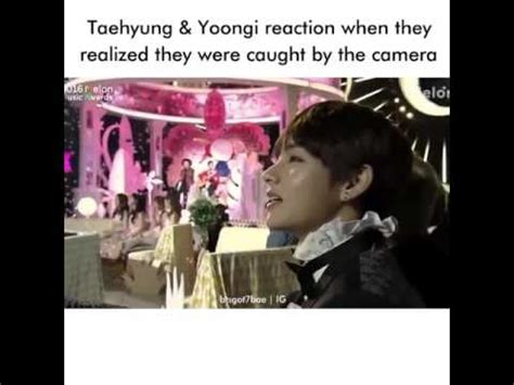 kim taehyung camera bts v kim taehyung suga min yoongi reaction to the