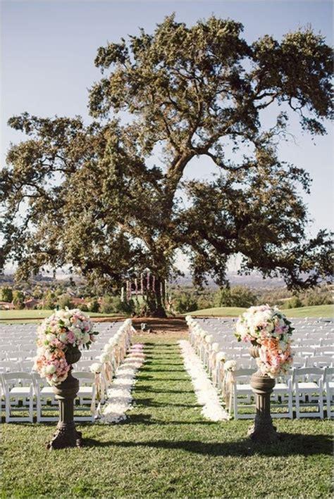 Wedding Aisle Decorations Outdoors by Casamento Ao Ar Livre
