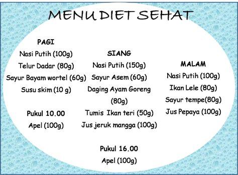 menu diet sehat tips diet sehat