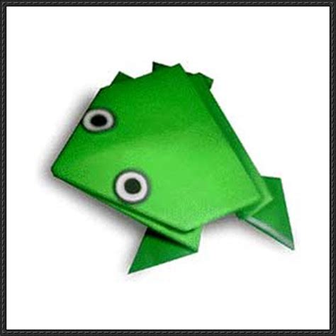Origami Jumping Frog Square Paper - how to fold a origami jumping frog