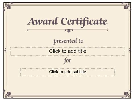 template for award certificates best minimalist award certificate template sle with