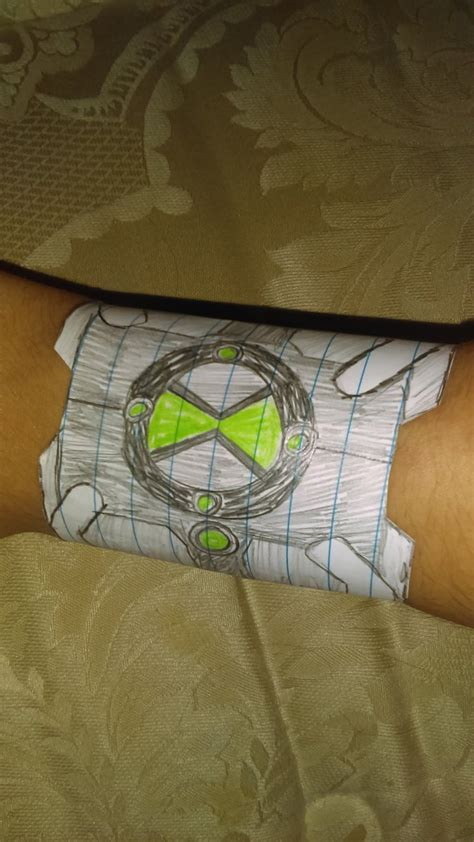 How To Make Paper Omnitrix - nanders69 lucas deviantart