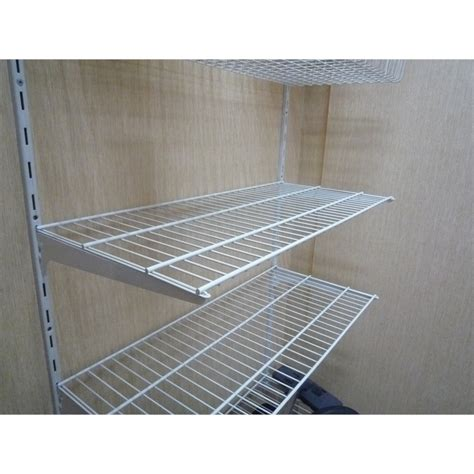 handy shelf 800 x 350mm white wire shelf bunnings warehouse
