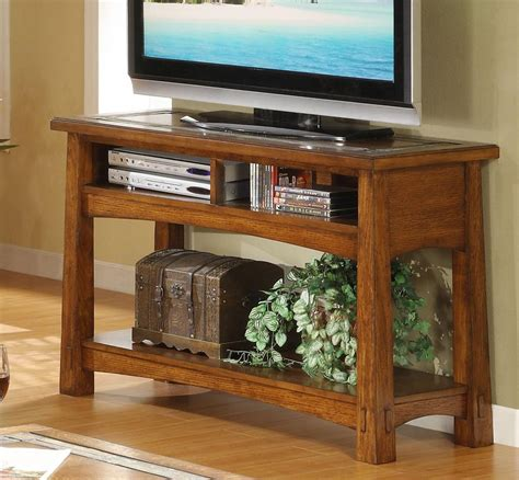 riverside furniture craftsman home console table with