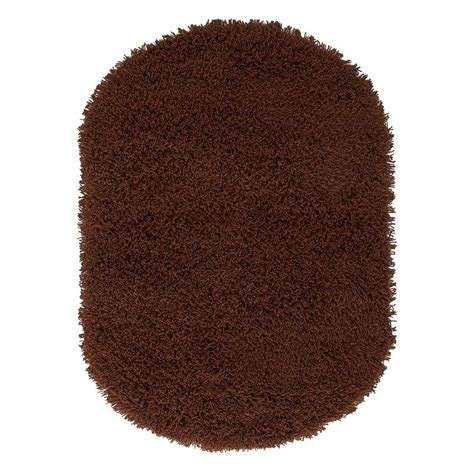 ultimate shag rug home decorators collection ultimate shag brown 5 ft x 7 ft oval area rug 2987890820 the home