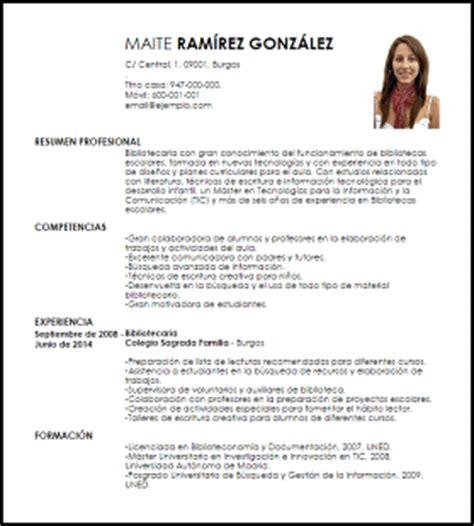 Plantillas De Curriculum Vitae Academico Modelo Curriculum Vitae Responsable De Biblioteca Escolar Livecareer