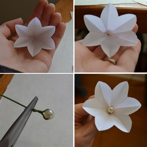 How To Make Mini Paper Flowers - sewing barefoot paper flowers