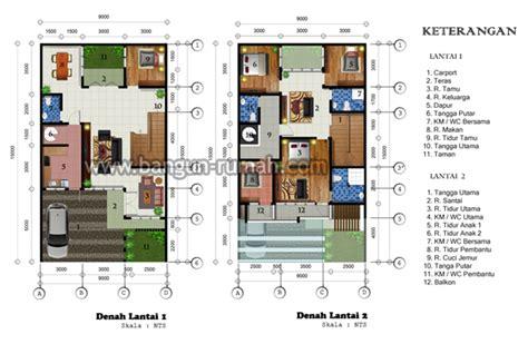 desain rumah minimalis 2 lantai di lahan 9 x 15 m2 studio desain rumah jakarta