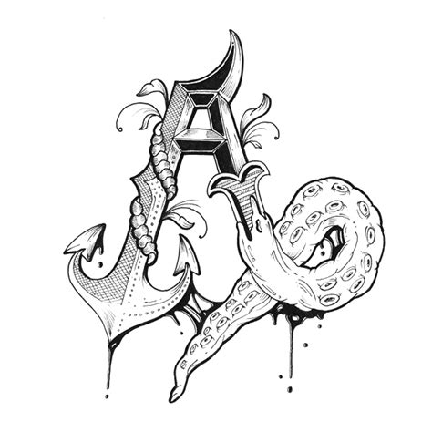 intricately alphabet with individually designed letters designtaxi
