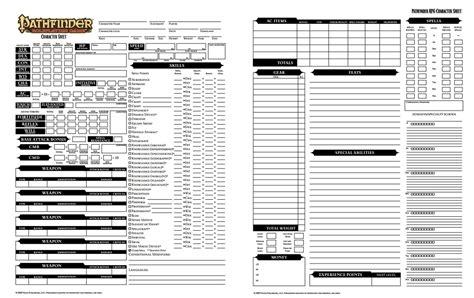 pathfinder templates pathfinder character sheet dicegeeks