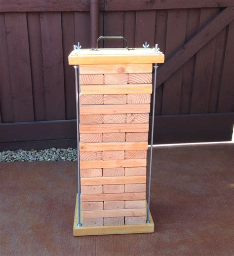 how to make backyard jenga homemade life sized jenga set 2x4 boards cut into 10 5