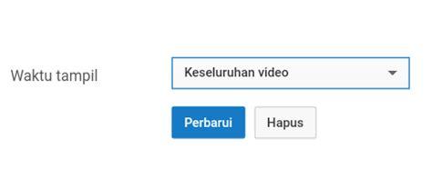 cara membuat watermark youtube klik perbarui untuk membuat dan memasang watermark logo