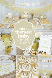 baby animals baby shower theme a golden safari themed baby shower spaceships and laser