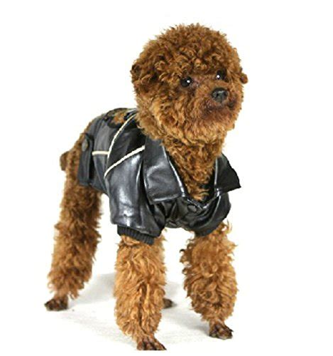 Motorcycle Apparel For Dogs pu leather motorcycle jacket dog puppy pet clothes