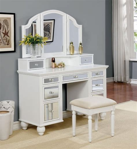 Gold Bedroom Vanity by Style Contemporary Color Finishrose Gold Material Mirror