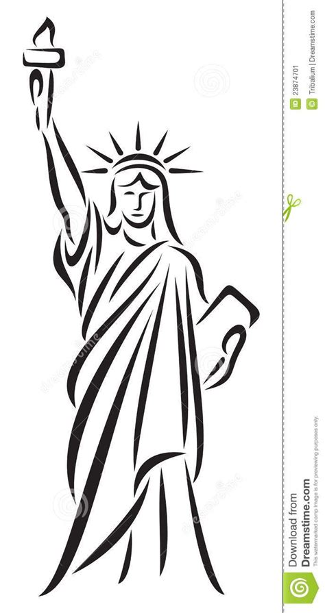 statue of liberty drawing template statue and search on