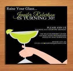 raise your glass lime margarita 30th birthday customized