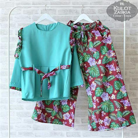 Sale Batik Setelan by Sale Cuci Gudang Baju Setelan Zaskia Kulot Cs024