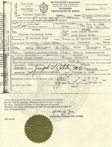 Massachusetts Birth Records Genealogy Mcrae Genealogy Lost Fred S Birth Certificate Found