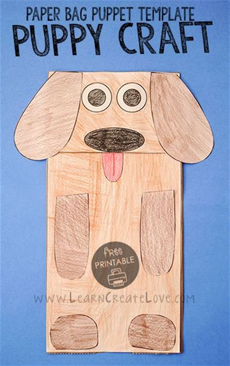 dog puppet pattern paper bag 47 best images about dogs on pinterest crafts