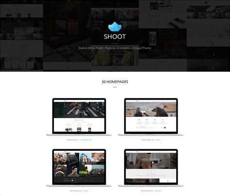 20 drupal ecommerce website themes free templates
