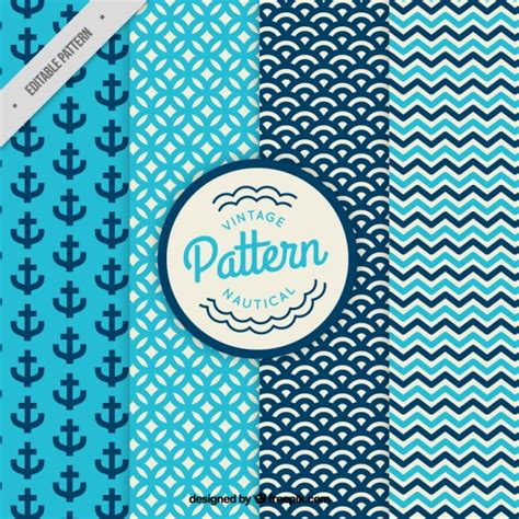 abstract pattern freepik vintage nautical and abstract patterns set vector free