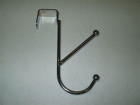 bathroom door hooks chrome steel all metal over the door double hook hanger