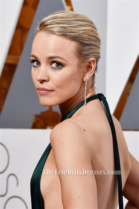 Rachel McAdams Sexy Halter Backless Evening Dress 88th Oscars Red Carpet   TheCelebrityDresses