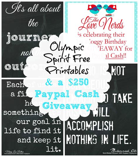 Cash Giveaways Ending Today - olympic spirit printables 250 paypal cash giveaway the happy housie