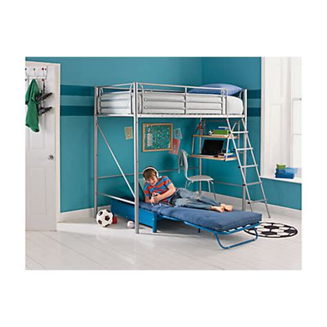 Metal High Sleeper Bed Frame by Sit N Sleep Metal High Sleeper Bed Frame Blue Futon