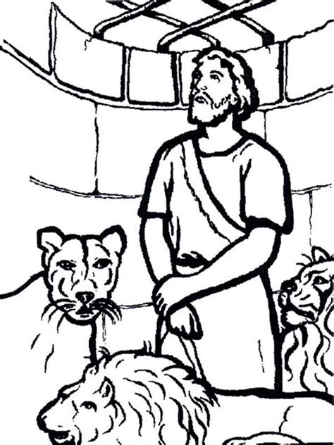 printable coloring pages daniel and the lions den daniel in the lion den coloring pages coloring home