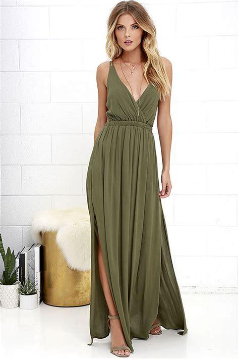 al longdress olive olive green dress strappy dress maxi dress 54 00