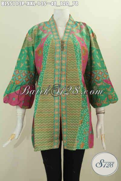 Model Baju Batik Ukuran Jumbo produk baju batik ukuran jumbo blus kerah kartini lengan