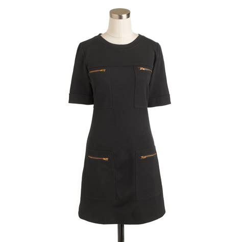 Pocket Dress j crew zip pocket dress in black lyst